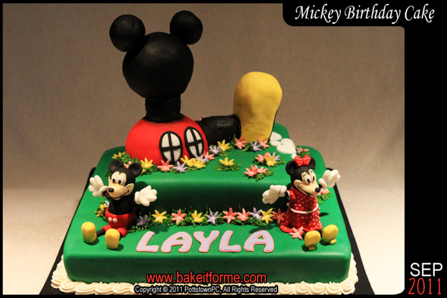 Mickey Mouse Clubhouse Fondant Cake on Cake Central