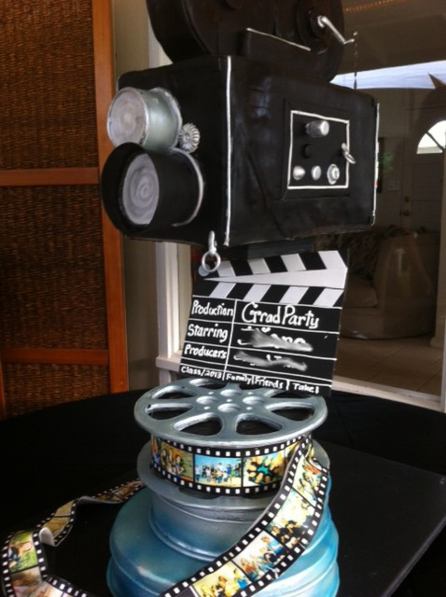 Movie Night Themed Grad Party Cake Cakecentral Com