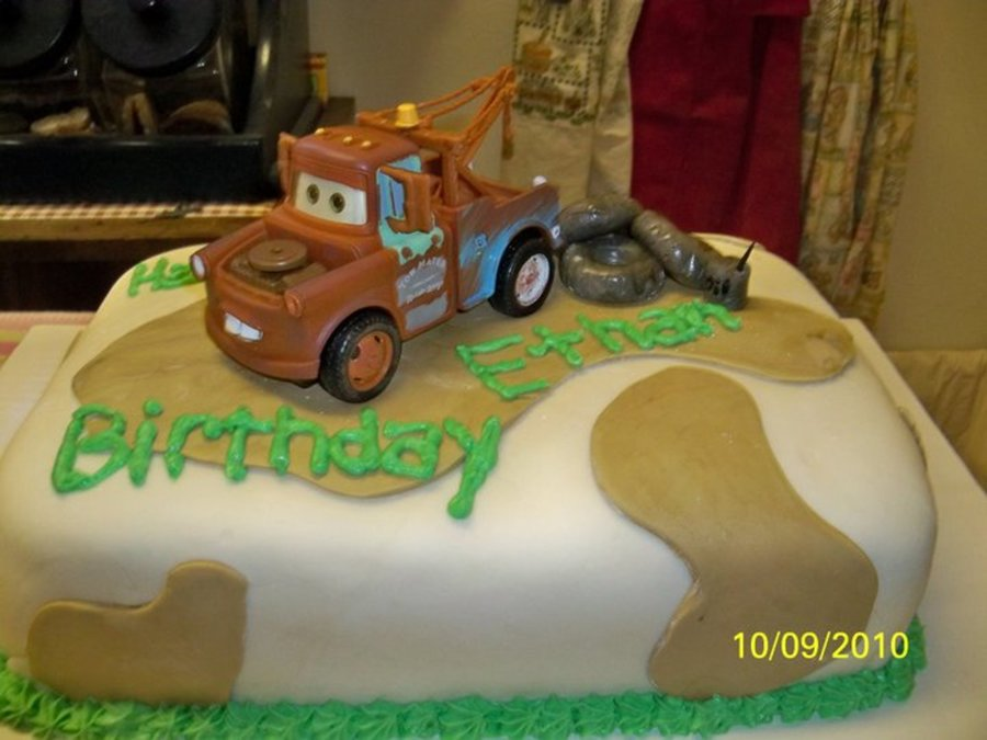 Sensational Tow Mater Birthday Cake Cakecentral Com Funny Birthday Cards Online Alyptdamsfinfo