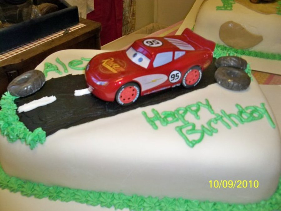 Lightening Mcqueen Cake on Cake Central