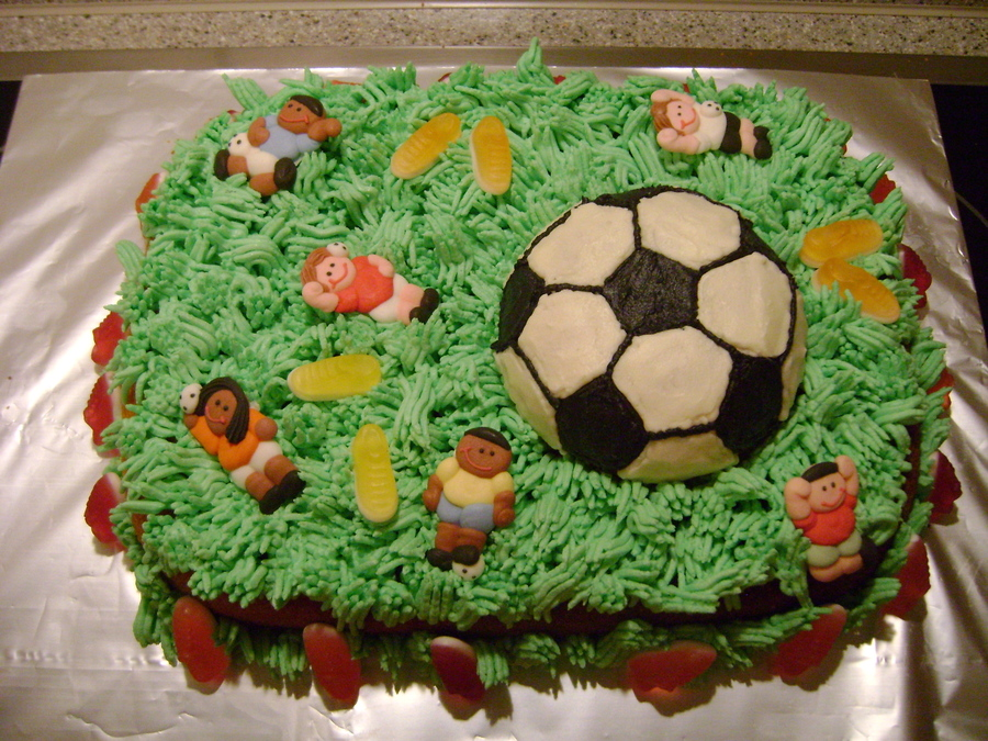Soccer Birthday Cake  on Cake Central