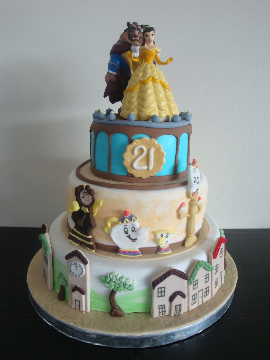 Beauty And The Beast Birthday Cake CakeCentralcom
