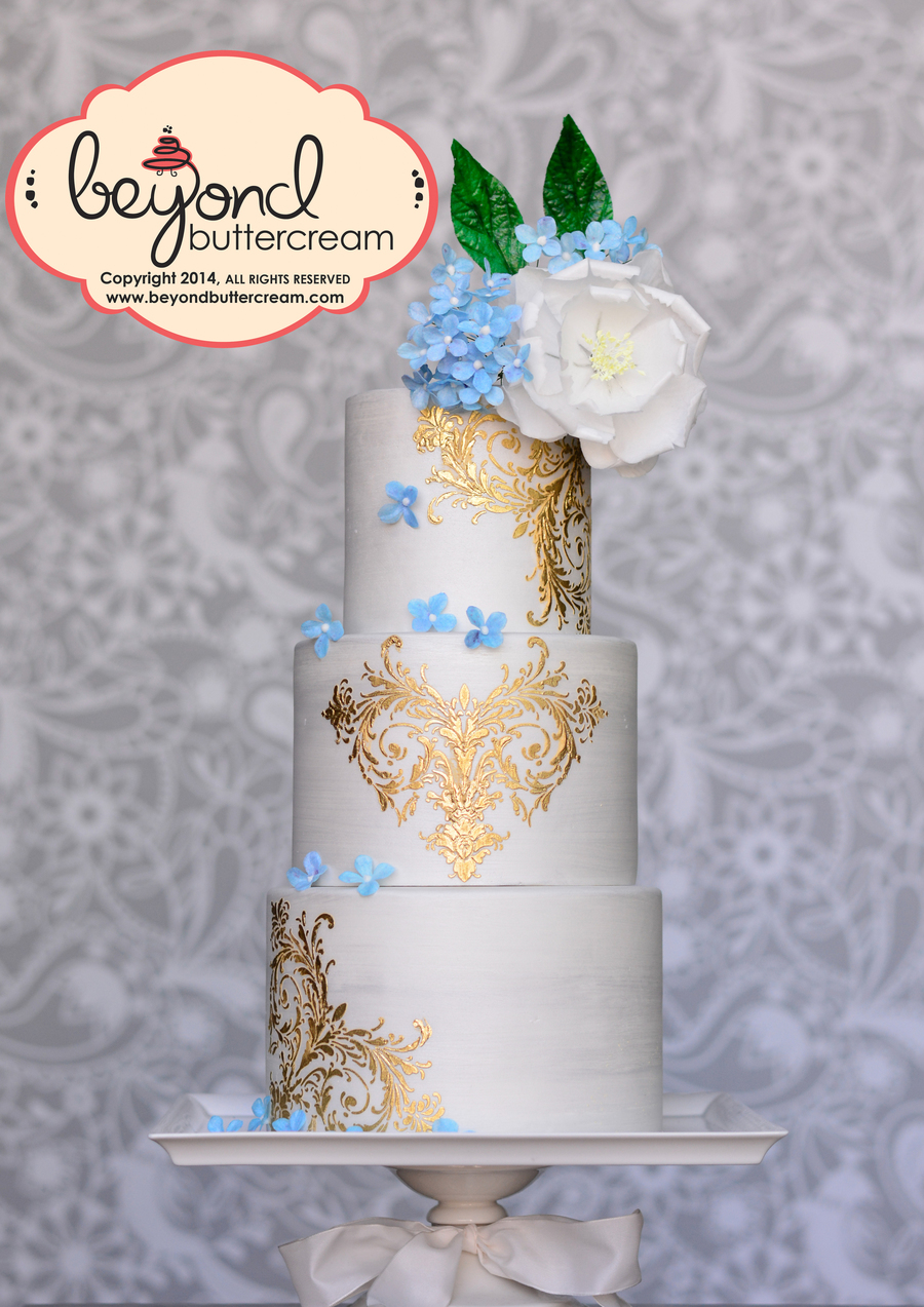 Wafer Paper Cake With Gold on Cake Central