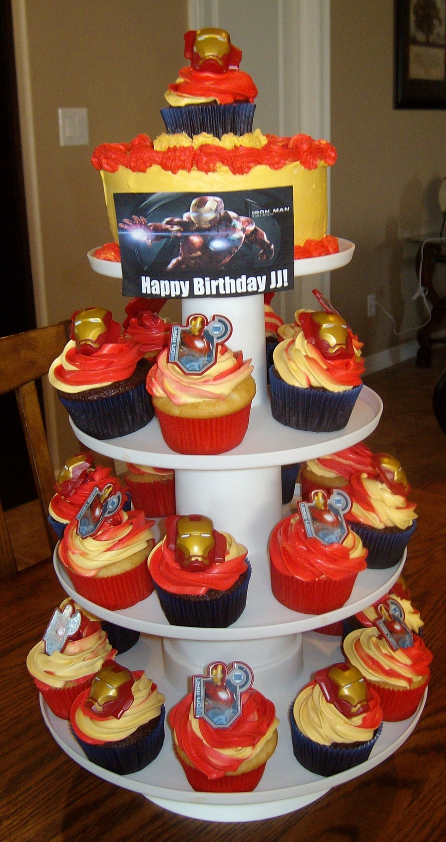 Ironman Cake/cupcakes on Cake Central