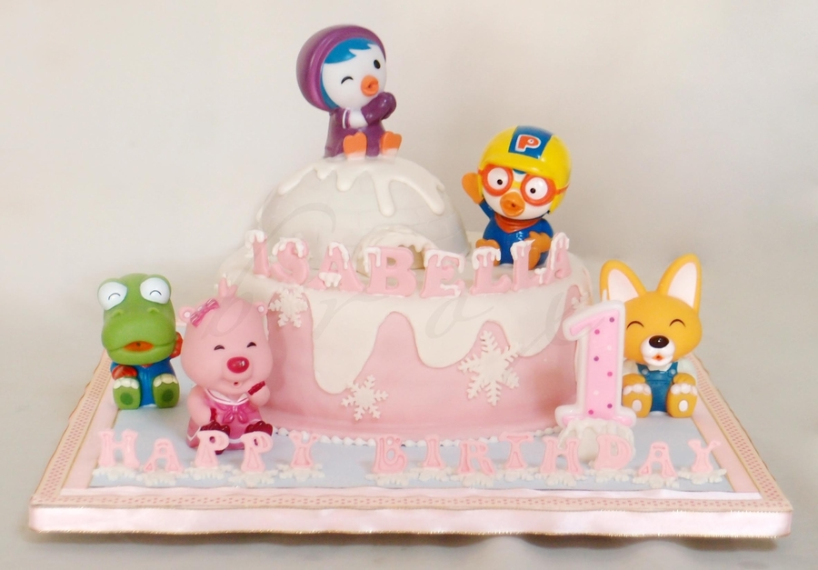Pink Pororo on Cake Central