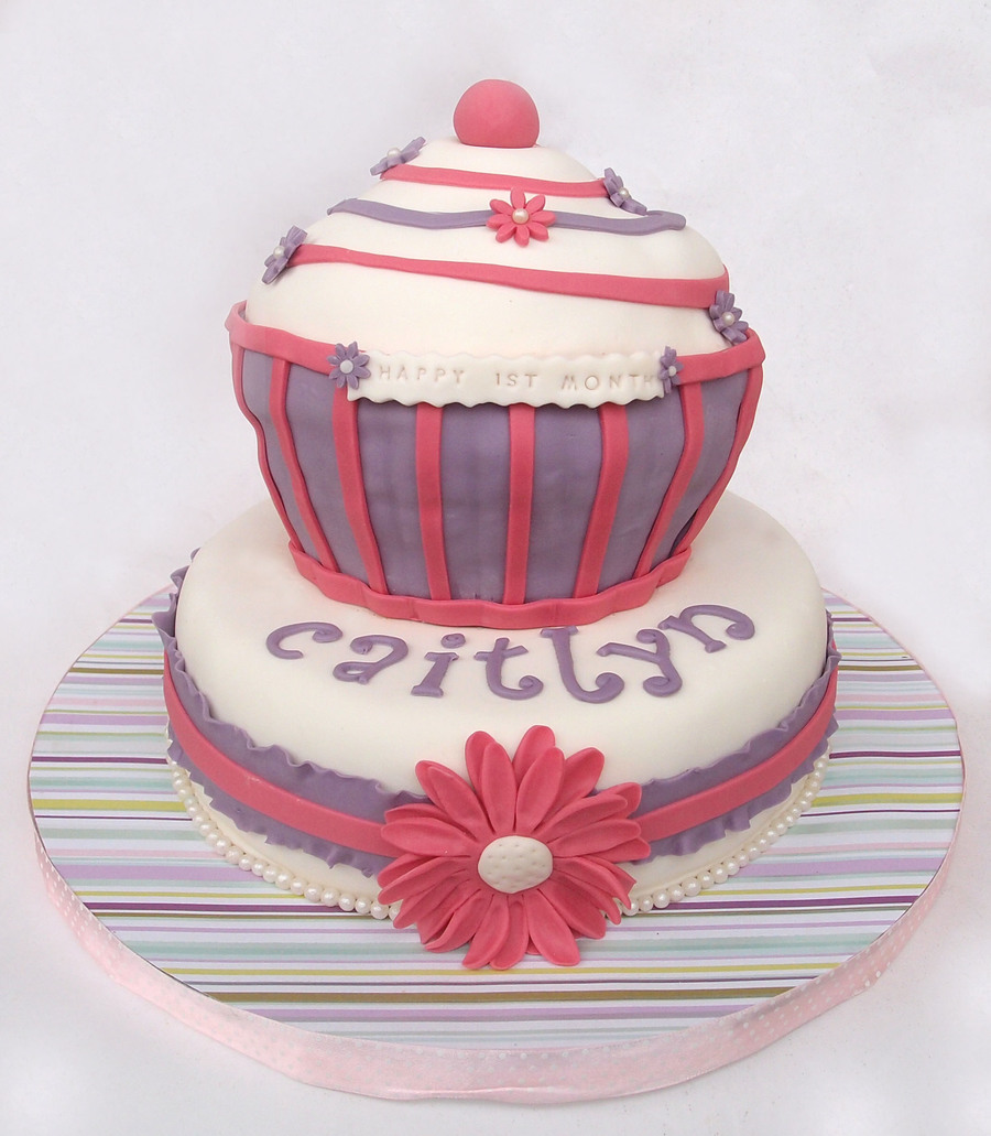 Giant Cupcake For A Little One on Cake Central