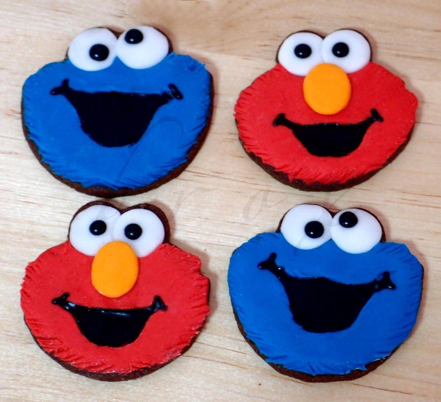 Cookie Monster And Elmo Cookies on Cake Central
