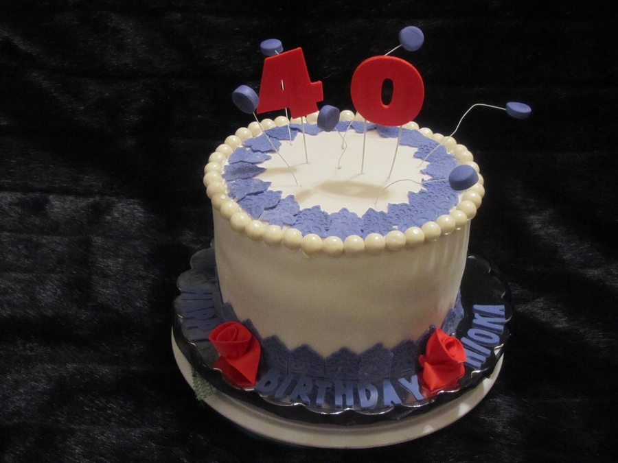 Happy 40Th Birthday on Cake Central