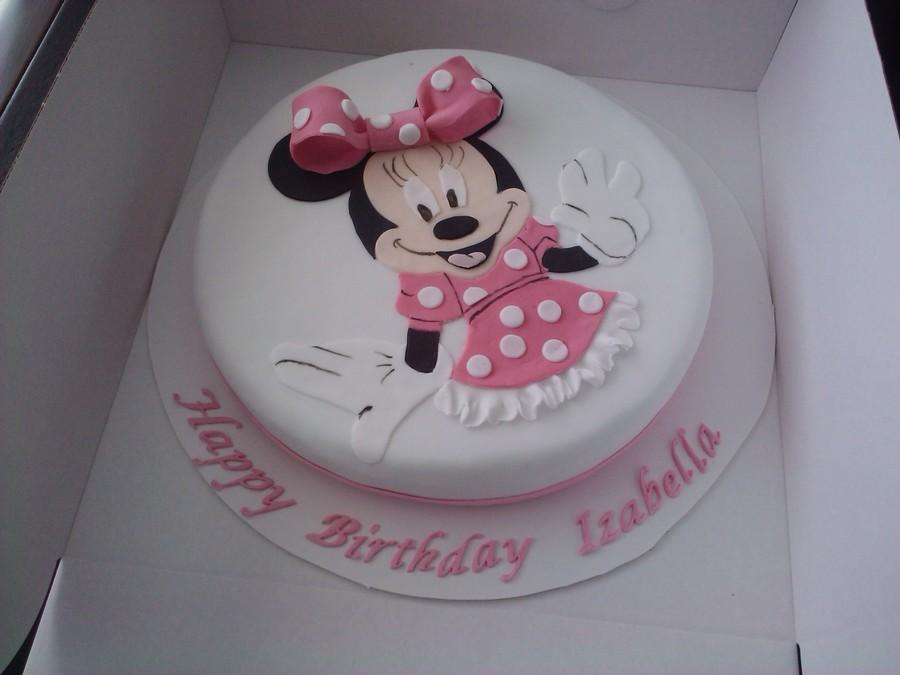 Minnie Mouse Birthday Cake CakeCentralcom