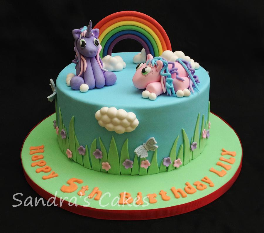Horse Rainbow Cake