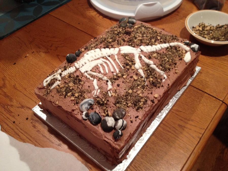 Dinosaur Fossil Cake Recipe