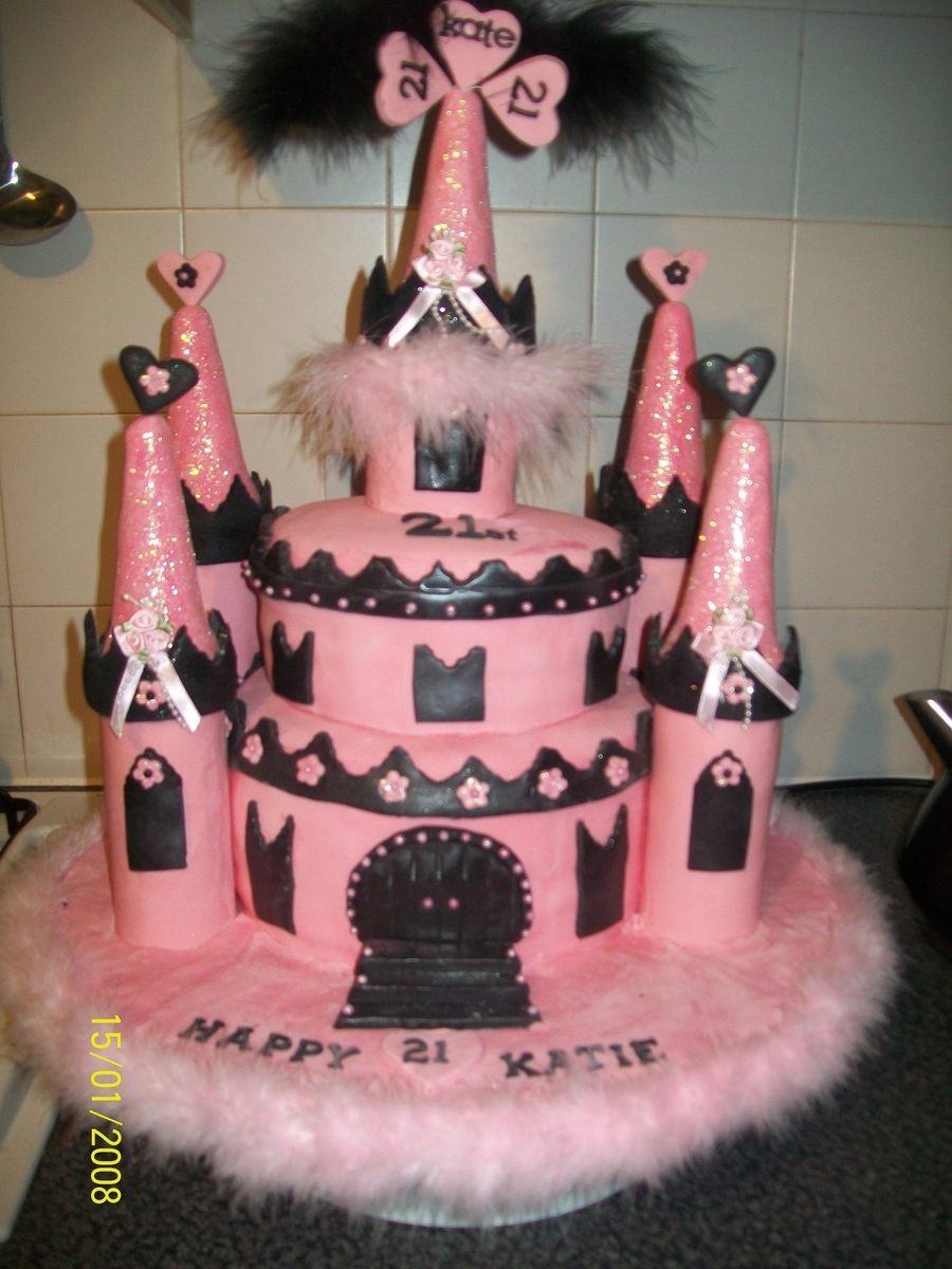 Pink Princess Castle on Cake Central