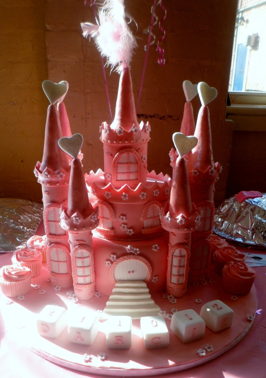 Princess Castle Christening Cake on Cake Central