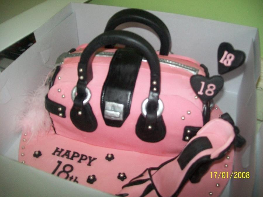 Enjoyable Pink Handbag Cakecentral Com Birthday Cards Printable Trancafe Filternl