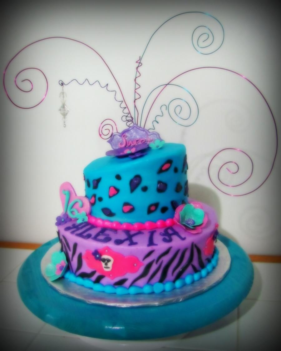 Cheetah Zebra Cake