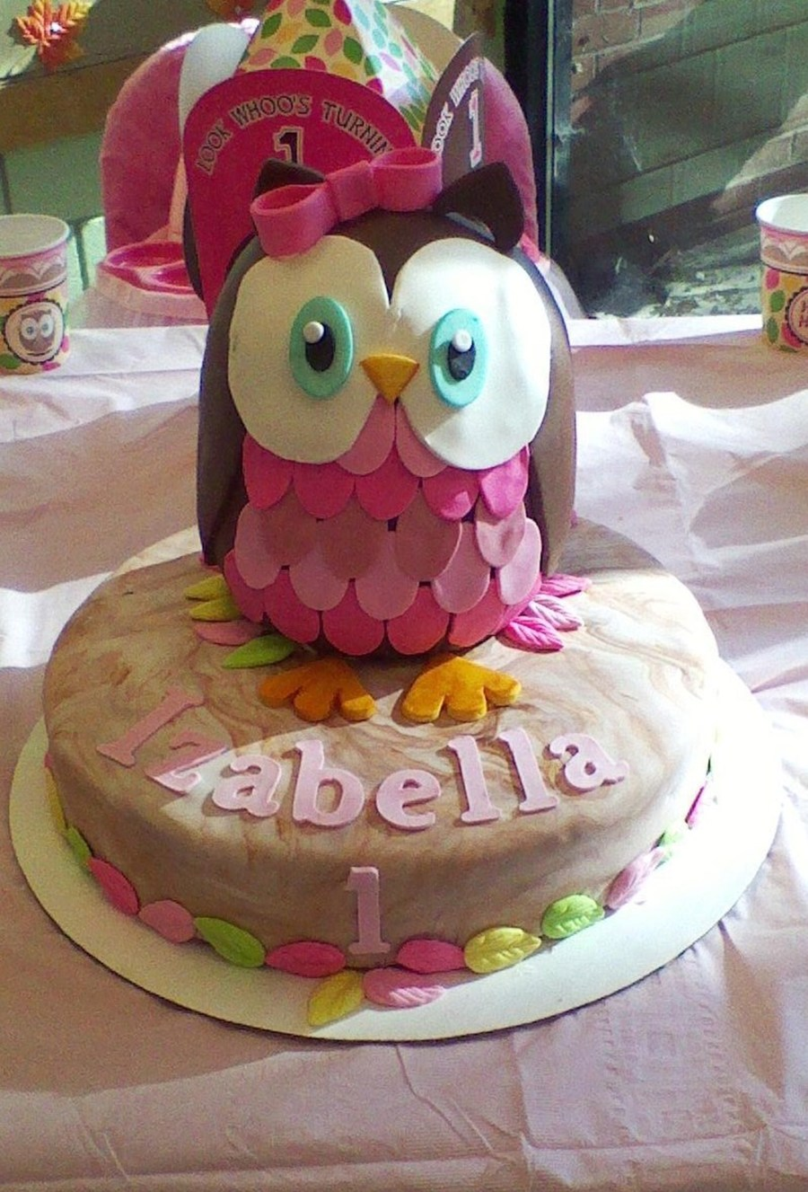 Owl Birthday Cake...look Whoos Turning 1. on Cake Central