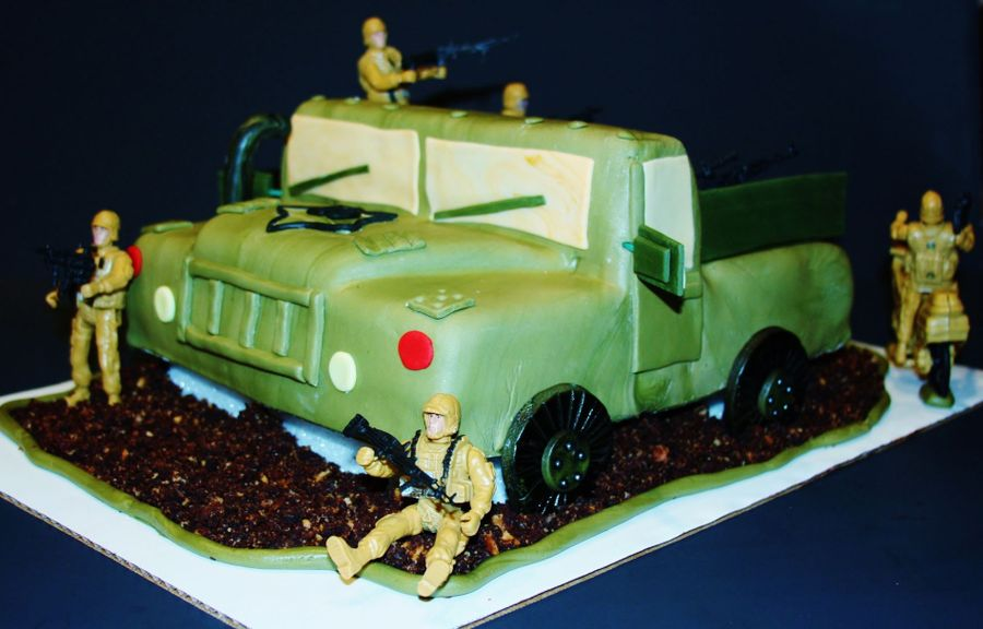 Military Themed Cake - CakeCentral.com
