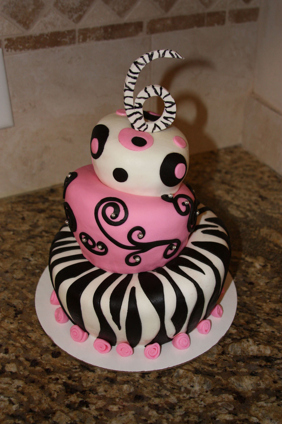 Topsy Turvy 3-Tiered Birthday Cake on Cake Central