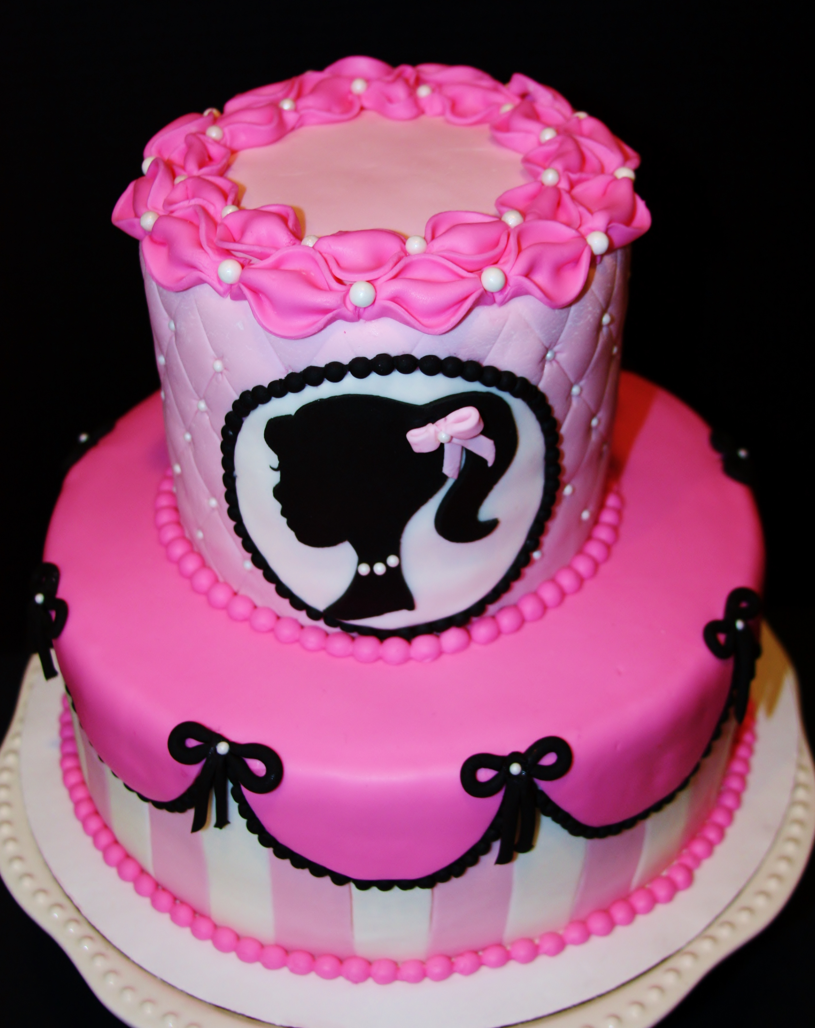 Vintage Barbie Birthday Cake