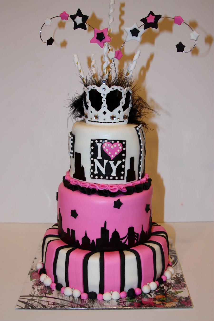 Superb New York City Themed Sweet 16 Cake Cakecentral Com Birthday Cards Printable Riciscafe Filternl