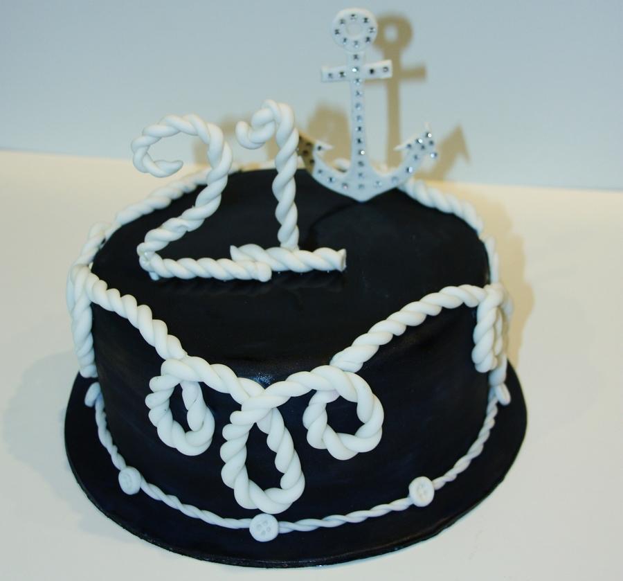 Lilly Pulitzer Nautical Themed Cake CakeCentralcom