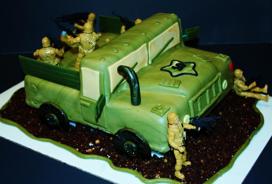 Army Truck Birthday Cake Image Inspiration of Cake and Birthday