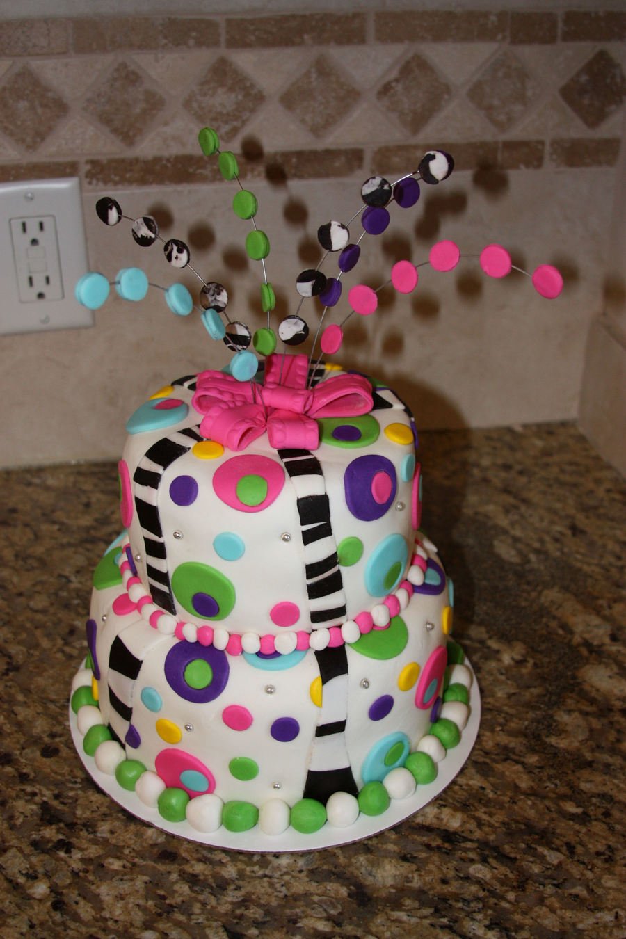 Crazy Colors & Polka Dots! on Cake Central
