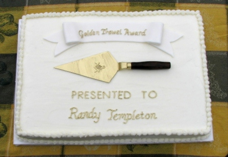 Golden Trowel Award on Cake Central