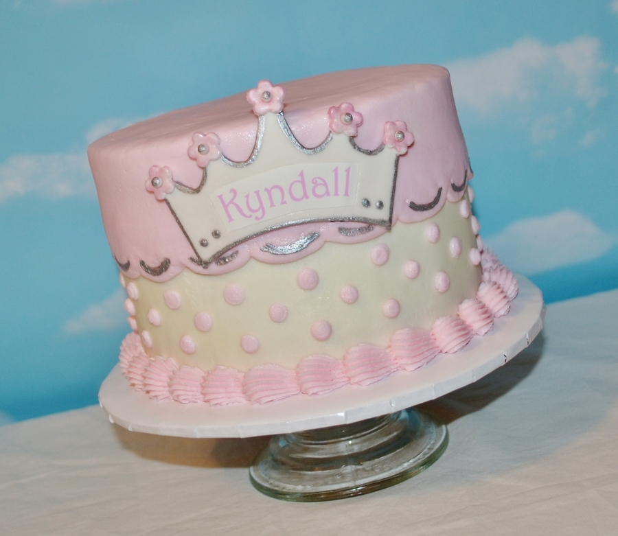 Brilliant First Birthday Princess Cake Cakecentral Com Personalised Birthday Cards Veneteletsinfo