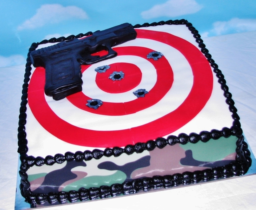 Grooms Target Practice Cake Cakecentral