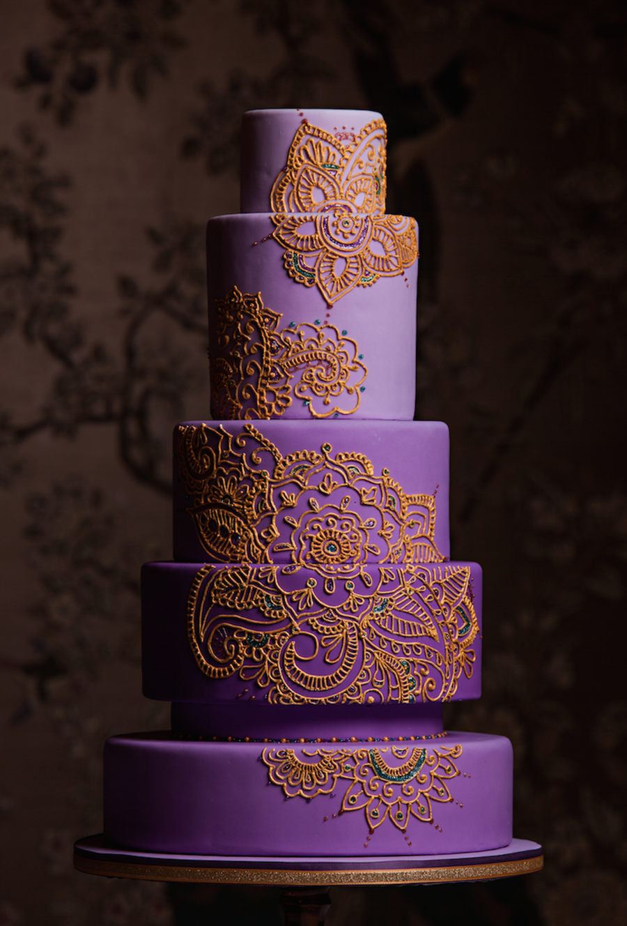 mehndi design cake for traditions magazine   cakecentral