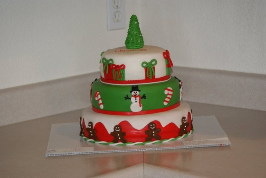 Our First Christmas Cake on Cake Central