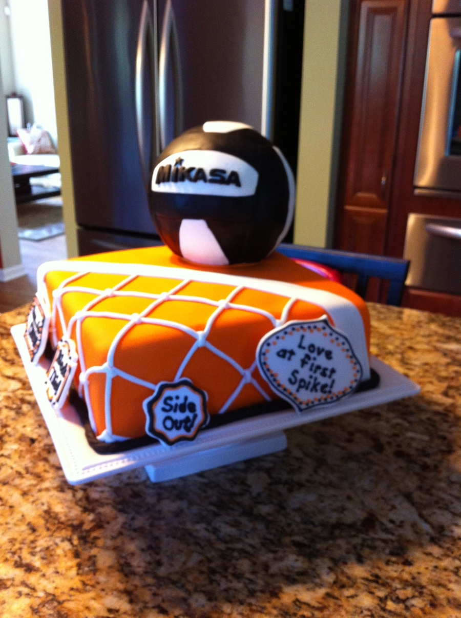 Volleyball Theme Cake Cakecentral Com