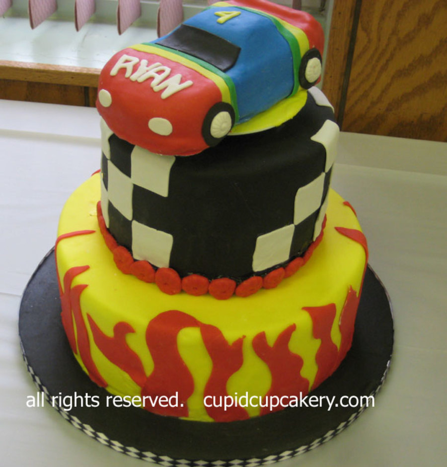 Race Car Birthday Cake on Cake Central