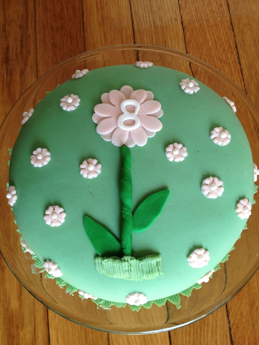 Fantastic Spring Themed 8 Month Old Birthday Cake Cakecentral Com Funny Birthday Cards Online Eattedamsfinfo
