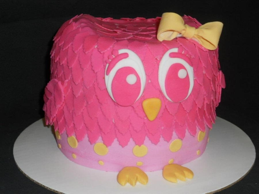 Pink Owl Cake on Cake Central