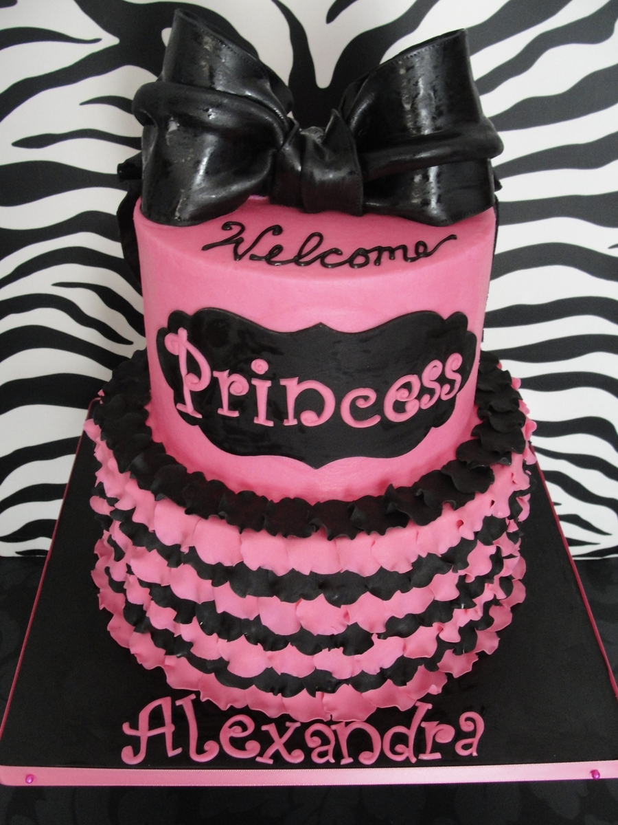 Pink And Black Baby Shower Cakecentral