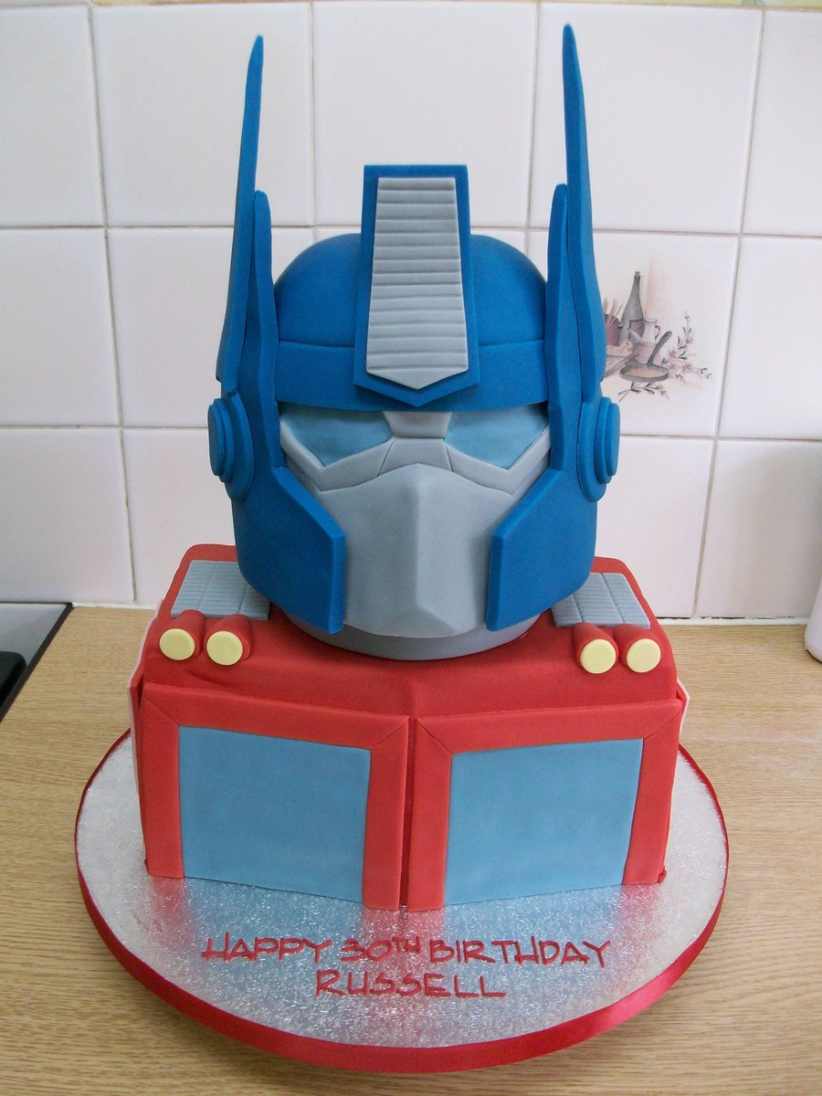 Optimus Prime Head Cake