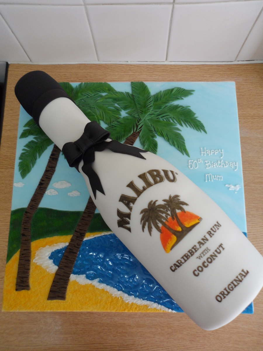 Malibu Bottle Cake Cakecentral