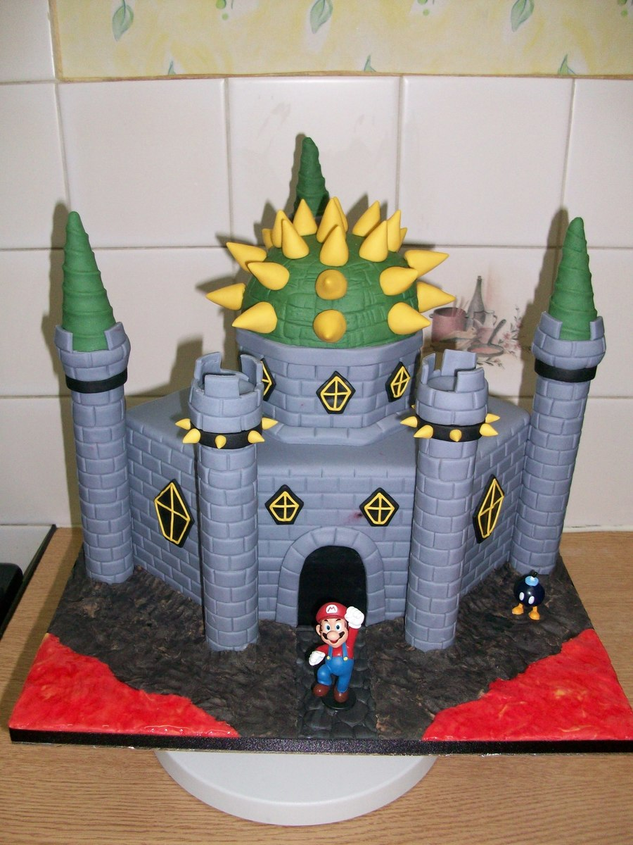 Bowser Castle Birthday Cake