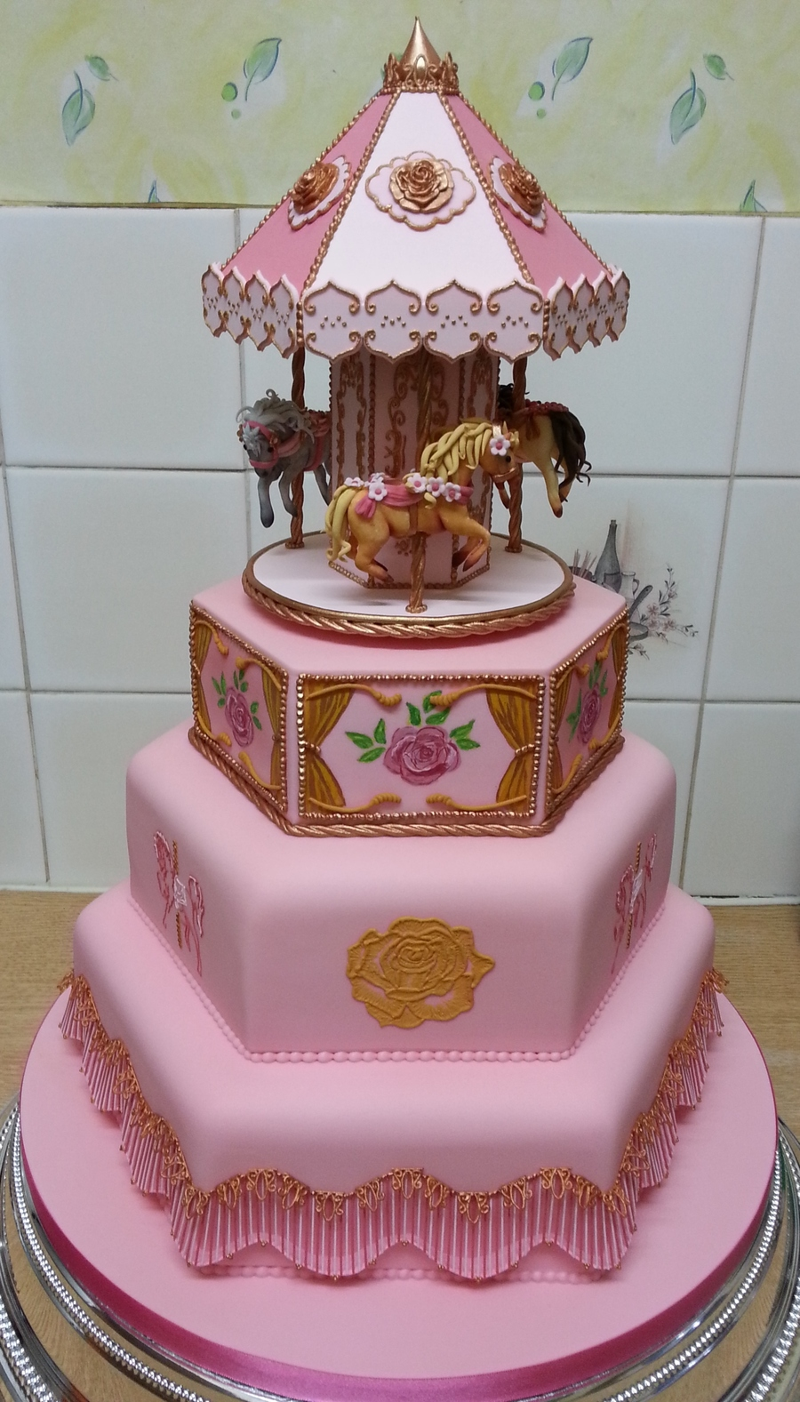Cake Decorating Carousel : Carousel Christening Cake - CakeCentral.com