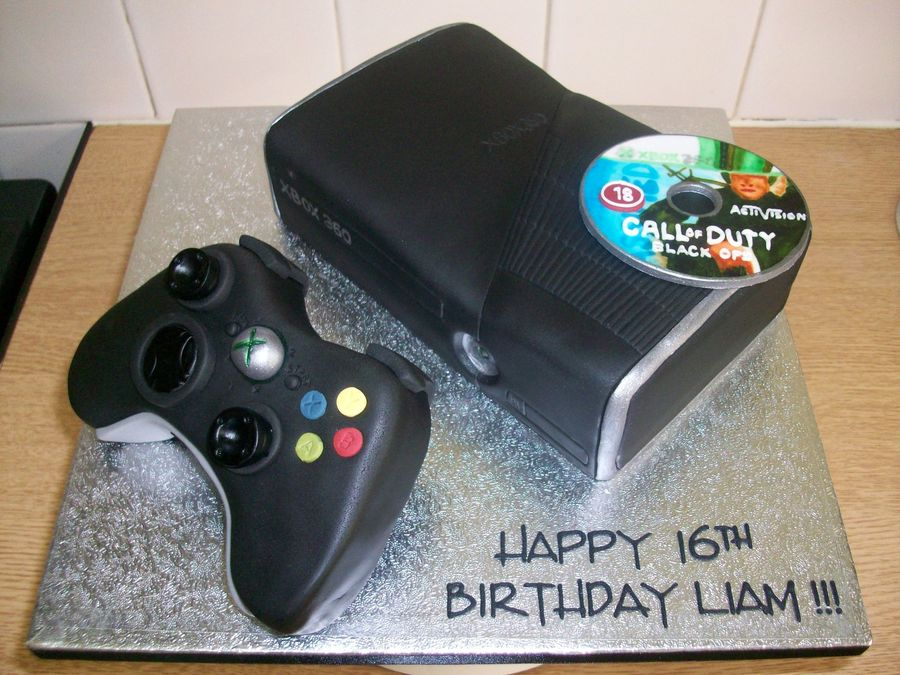 New Black Xbox 360 Console Amp Controller Cake Cakecentral Com