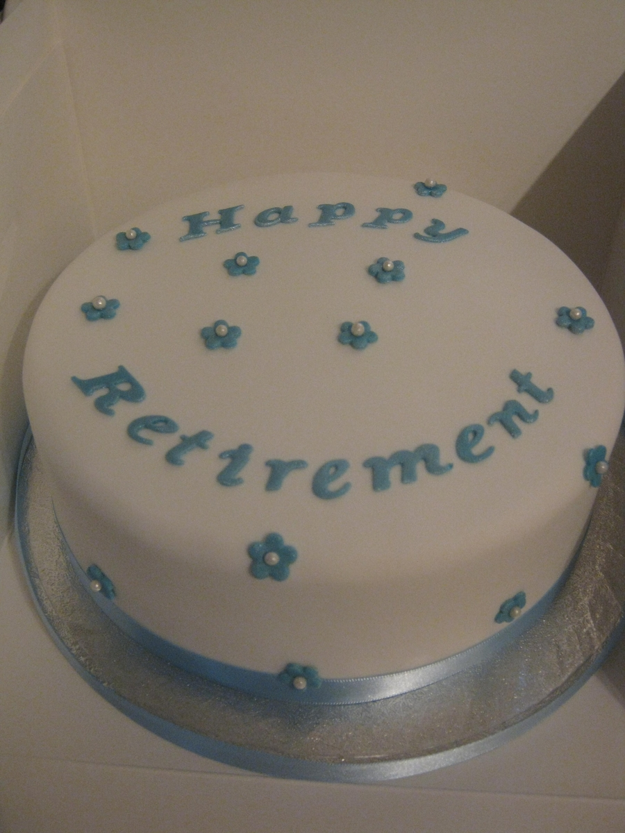 Very Simple Retirement Cake on Cake Central