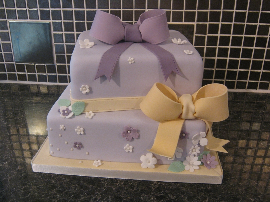 Enjoyable 2 Tier Square Cake 70Th Birthday Cakecentral Com Funny Birthday Cards Online Overcheapnameinfo