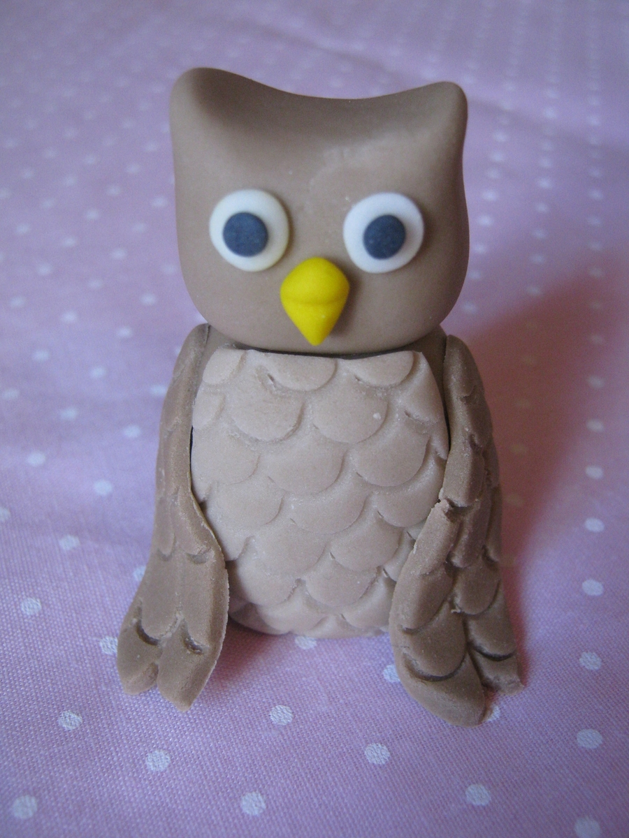 Sugarpaste Owl on Cake Central