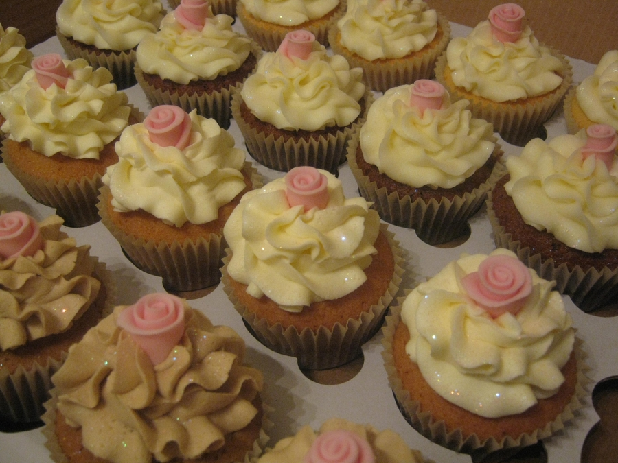 Simple Rose Wedding Cupcakes on Cake Central