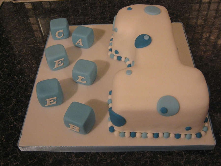 Enjoyable Boy 1St Birthday Cake Number 1 Cakecentral Com Personalised Birthday Cards Paralily Jamesorg