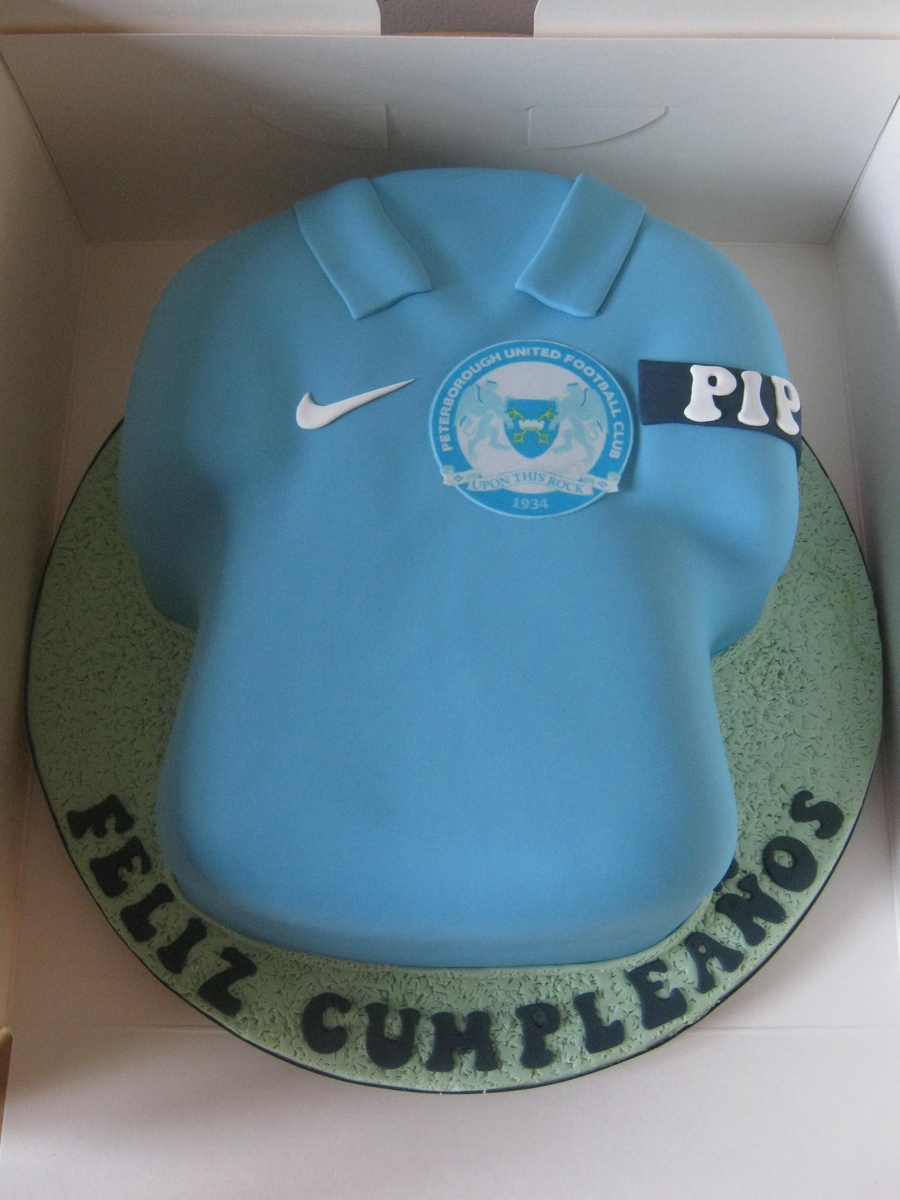 Peterborough United Football Shirt on Cake Central
