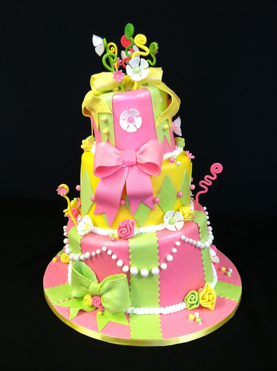 Topsy-Turvy Spring Birthday on Cake Central