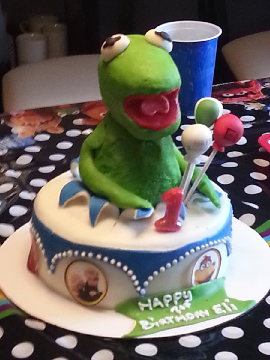 Enjoyable 3D Kermit The Frog Birthday Cake Cakecentral Com Funny Birthday Cards Online Sheoxdamsfinfo